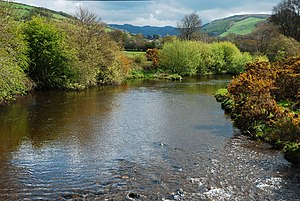 Afon Rheidol - The Rheidol near Capel Bangor in spring