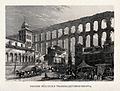 The Roman aqueduct at Segovia. Engraving. Wellcome V0020176.jpg
