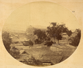 The Town of Qinzhou, a Major Trading Post and Center for Export of Manchurian Deer Antlers, Showing a Single Pitched Roof with Raised Ridge. Gansu Province, China, 1875 WDL2083.png