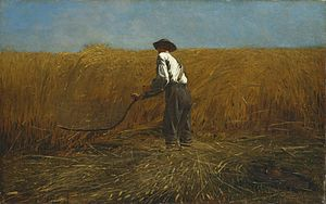 The Veteran in a New Field (1865) by Winslow H...