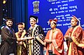 The Vice President, Shri M. Venkaiah Naidu presenting the degrees to students, at the Convocation of Lady Hardinge Medical College, in New Delhi.JPG
