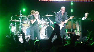 "The Who on tour in 2007. L to R: Zak Starkey, Daltrey, Townshend, and John ""Rabbit"" Bundrick The Who 2007 -2-.JPG"