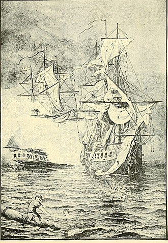 HMS Drake (1777) - Image: The boys of 1812 and other naval heroes (1887) (14578743397)