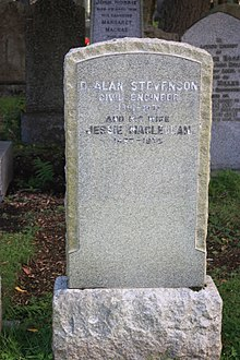 The grave of David Alan Stevenson, Dean Cemetery, Edinburgh.jpg