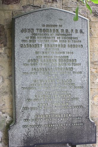 John Thomson (physician) - The grave of Dr John Thomson, Greyfriars Kirkyard, Edinburgh