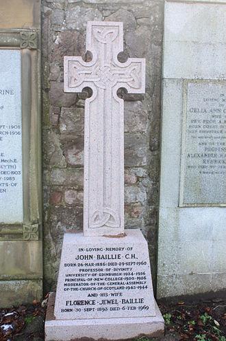 John Baillie (theologian) - The grave of Rev John Baillie, Grange Cemetery, Edinburgh
