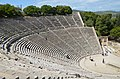 The great theater of Epidaurus, designed by Polykleitos the Younger in the 4th century BC, Sanctuary of Asklepeios at Epidaurus, Greece (14058124143).jpg