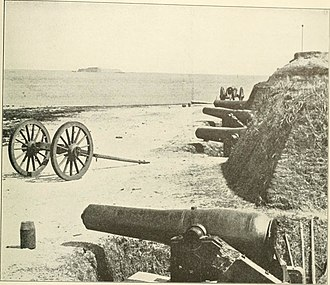 James Island (South Carolina) - Fort Johnson, with Fort Sumter in background
