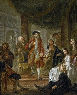 Francis Hayman - Image: The play scene from 'Hamlet' (Hayman c. 1745)