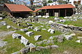 The ruins of the Mausoleum of Halicarnassus, constructed for King Mausolus during the mid-4th century BC at Halicarnassus in Caria, Bodrum, Turkey (17485618195).jpg