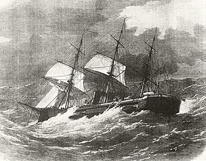 HMS Captain (1869) - The sinking of the Captain, by William Frederick Mitchell