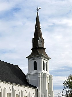 The steeple of Mother Emanuel African Methodist Church, Charleston, SC