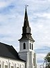 The steeple of Emanuel African Methodist Episcopal Church in Charleston, South Carolina