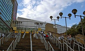The steps to the MEN arena - geograph.org.uk - 1399060