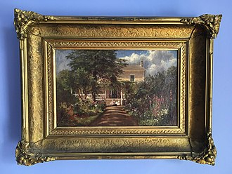Thomas Cole House - Painting of the house by Charles Herbert Moore, who stayed on the property