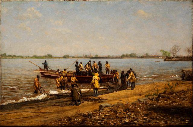 Art history news thomas eakins at the metropolitan for Shad fishing delaware river