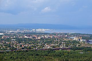 Thunder Bay City in Ontario, Canada