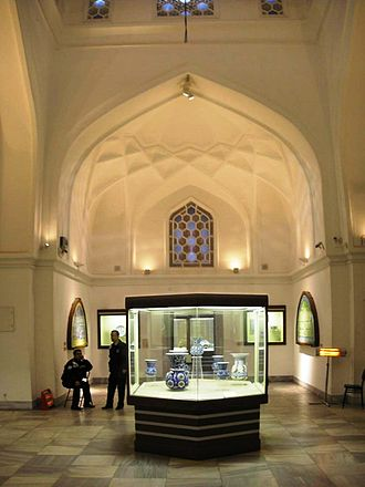 Tiled Kiosk - Interior with the collection of Islamic art