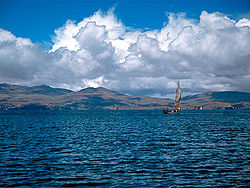 Lake Wiñaymarka, the southern part of Lake Titicaca