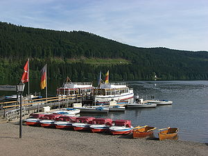 Titisee - Pedaloes on the Titisee