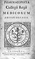 """Title page """"Pharmacopoeia Collegii Regii ..."""", 1735 Wellcome M0011896EA.jpg"""