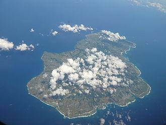 Tokunoshima - Aerial view of the island. (2011)