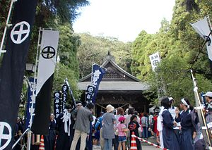 Hioki, Kagoshima - View of Myoenji mairi in Tokushige Shrine
