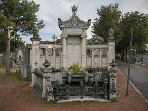 Auguste and Louis Lumière - Tomb of the Lumière brothers in the New Guillotière Cemetery in Lyon