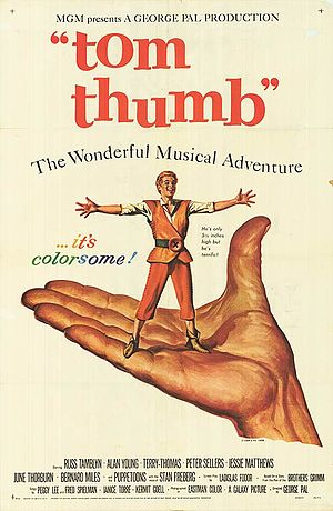 Tom Thumb (film) - Original poster by Reynold Brown