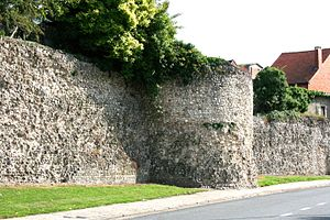 Atuatuca - Roman city wall at Atuatuca Tungrorum, modern Tongeren in Belgium
