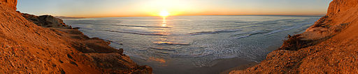 Torrey Pines State Reserve - November Sunset 180° Pano