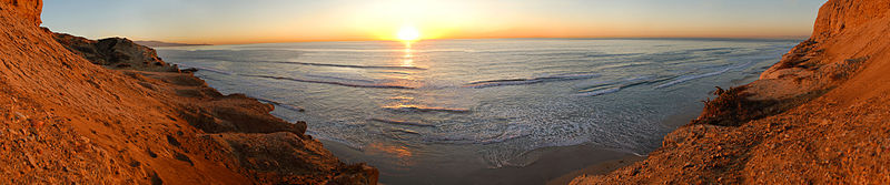 Torrey Pines State Reserve - November Sunset 180° Pano.jpg