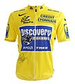 Tour de France 2005 yellow jersey (Lance Armstrong).jpg
