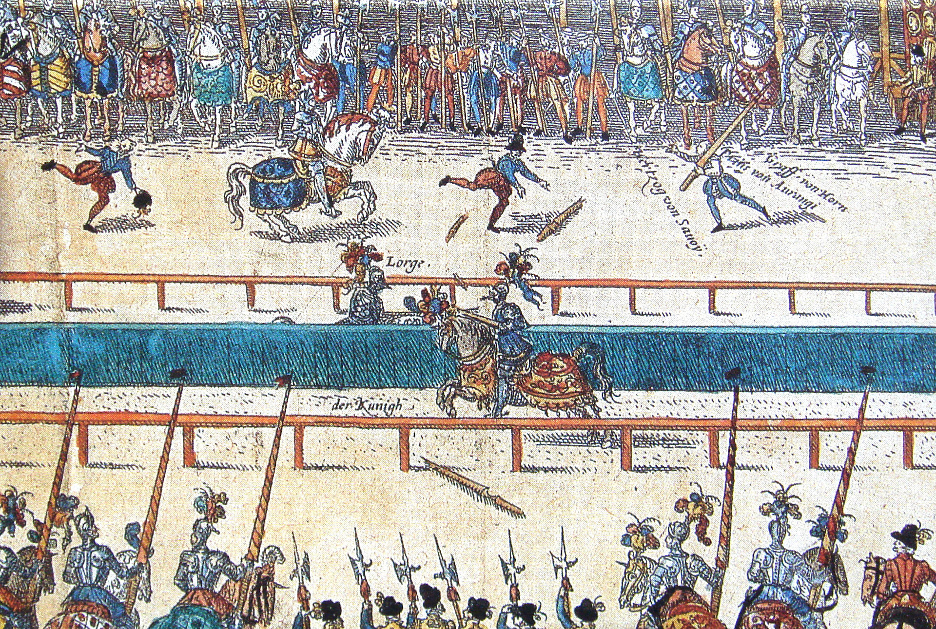 Tournament between Henry II and Lorges, 16th century