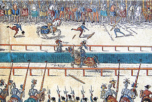 Gabriel, comte de Montgomery - The fatal tournament between Henry II and Montgomery (Lord of Lorges).