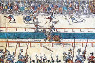 Italian War of 1551–1559 - Image: Tournament between Henry II and Lorges