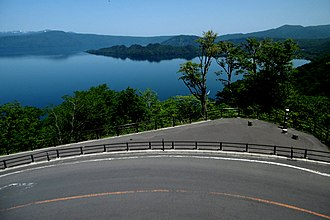 Japan National Route 103 - Route 103 near Lake Towada