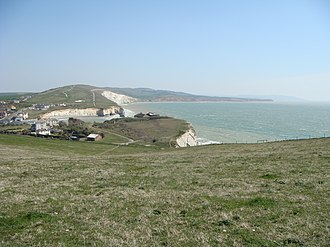 Tennyson Down - Image: Towards Freshwater from Tennyson