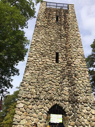 D.W. Field Park - DW Field Park tower side view on Towerfest Day