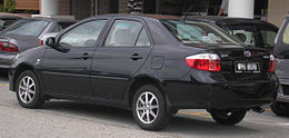 Toyota Vios (first generation, first facelift) (rear), Serdang.jpg