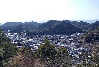 Tōzan Shrine - The view of Arita Town from Yi Sam-pyeong Monument.