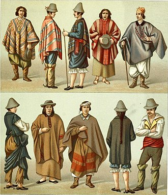Poncho - Araucanos and gauchos in Chile, 19th century