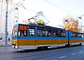 Tram in Sofia near Palace of Justice 2012 PD 033.jpg