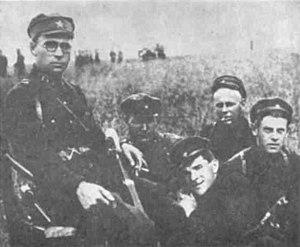 Toivo Vähä - Soviet border troops in Transbaikalia. Toivo Vähä in the middle.
