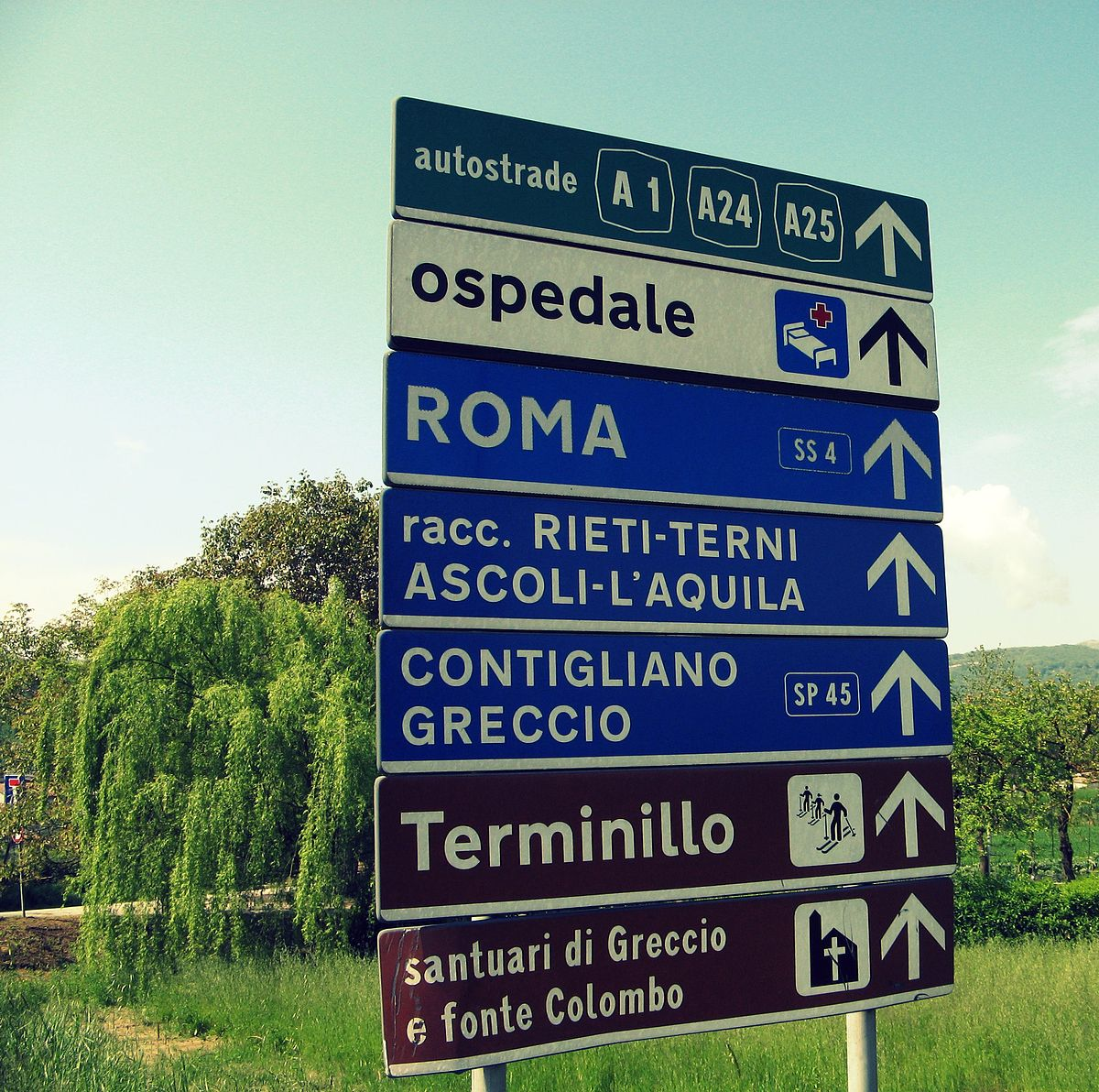 Road Signs In Italy Wikipedia