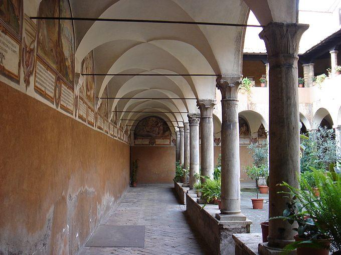 Trastevere - sant'Onofrio - chiostro interno 00657