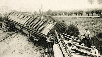 Houten train accident - Image: Treinramp Houten 1917 (4)