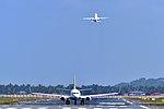 Trivandrum International Airport Aircraft landing.jpg