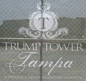 Trump Tower (Tampa) - Trump Tower Tampa logo construction screen