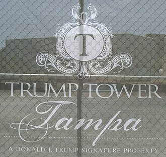 Trump Tower (Tampa) - Trump Tower Tampa logo construction screen
